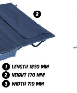 camping stretcher length & height