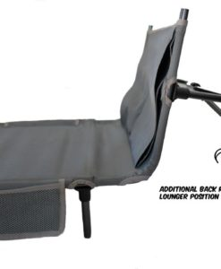camping bed with lounger backrest