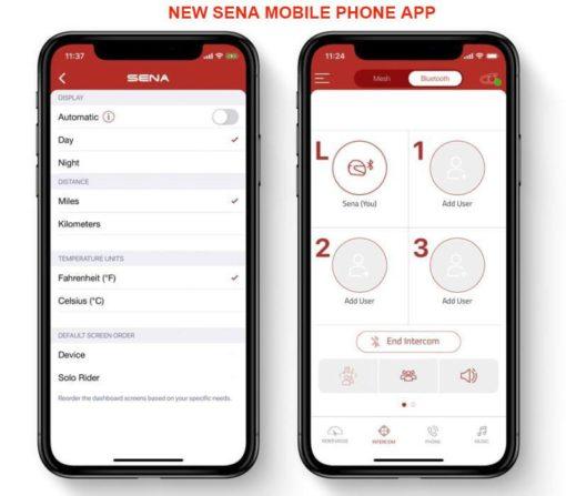 Sena mobile cell phone app