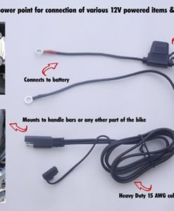 12v power point for battery chargers and compressors