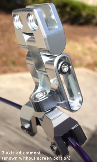 adjustable motorcycle wind screen